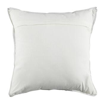 Silver Embellished Medallion Square Throw Pillow view 2