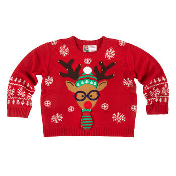 Nerdy Reindeer Ugly Sweater view 1