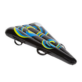 Blue Swirls Inflatable Snow Sled view 1