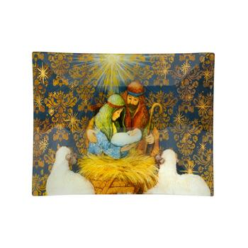 Nativity Scene Glass Serving Tray view 2