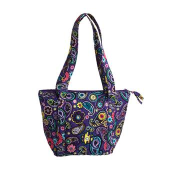 "8""x9"" Paisley Quilted Insulated Lunch Tote Bag"