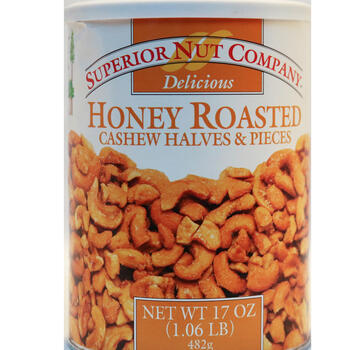 Superior Nut Company 17 Ounce Honey Roasted Cashew Halves view 1