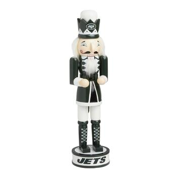 "14"" NFL New York Jets Collectible Wood Nutcracker"