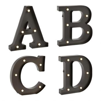 "12"" Lighted Marquee Monogram"