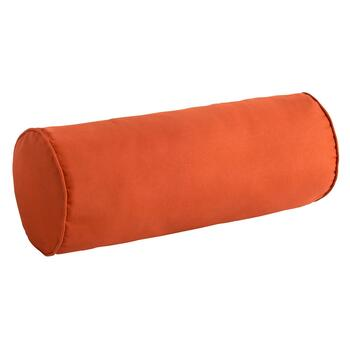 Solid Tangerine Indoor/Outdoor Lumbar Roll Pillow