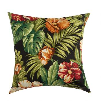 Tropical Flowers Indoor/Outdoor Square Throw Pillow