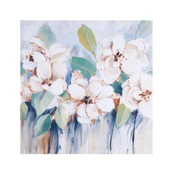 "30"" White Flowers Canvas Wall Art"
