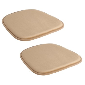 Solid Memory Foam Chair Pads, Set of 2