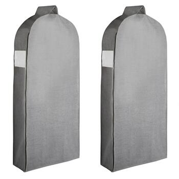 Gray Hanging Garment Bags Set Of 2
