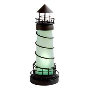 "16"" Solar Lighthouse Garden Decor"