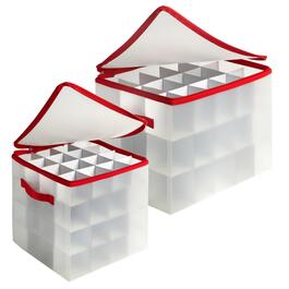 Ornament Storage Box with Handles