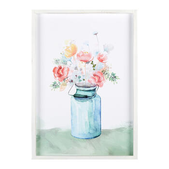 "19""x27"" Watercolor Flower Jar Framed Wall Art view 1"