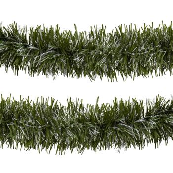 30' Snowy Pine Tree Tinsel Garlands, Set of 2