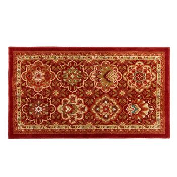 "Mohawk Home 25""x44"" Red/Brown Floral Accent Rug"