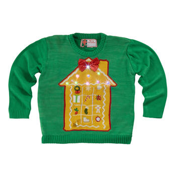 Christmas House Light-Up Green Green Ugly Sweater view 1