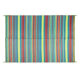 5'x7' Rainbow Stripe Reversible All-Weather Patio Mat