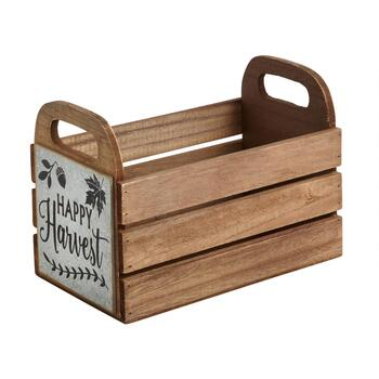 """Happy Harvest"" Wooden Caddy"