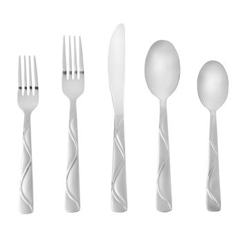 Cambridge® Boa Frost Flatware Set, 20-Piece
