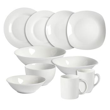 Basic White Ceramic Dinnerware Collection