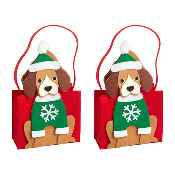 Holiday Dog Felt Tote Bags, Set of 2 view 1