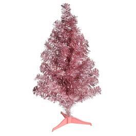 24 tabletop tinsel tree - Santa Decorated Christmas Tree