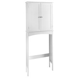 White 2-Door Louver Space Saver Cabinet