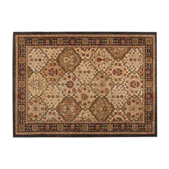 5'x7' Brown Traditional Area Rug