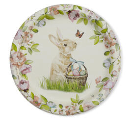 "Floral Bunny 9"" Paper Plates, 10-Count view 1"