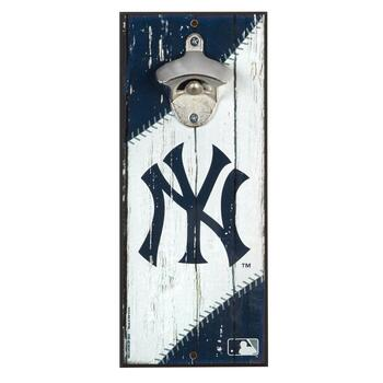 "5""x12"" New York Yankees Beer Bottle Opener Wall Decor"