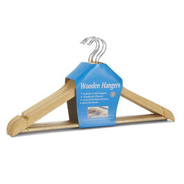 5 Pack Wooden Hangers view 1