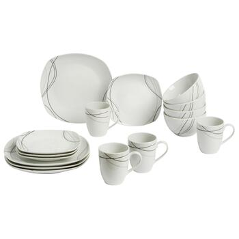 Alec Ceramic Dinnerware Set, 16-Piece