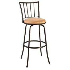 Vertical Slat-Back Swivel Stool