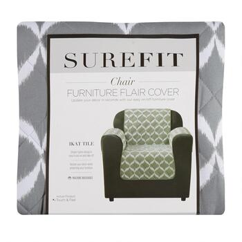 SUREFIT Sage Ikat Chair Furniture Cover