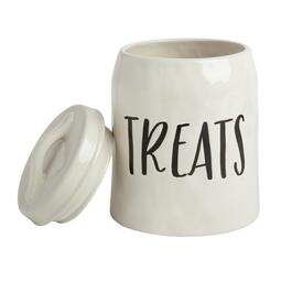 """Treats"" Ceramic Canister with Lid"