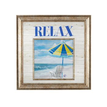 "18"" ""Relax"" Shore Wall Decor"