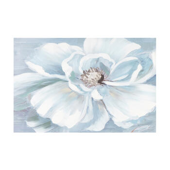"24""x36"" Large White Flower Canvas Wall Art view 1"