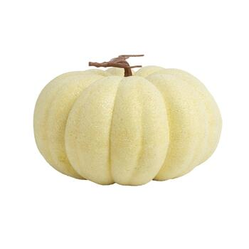 "11.75"" Frosted Pumpkin Decor"