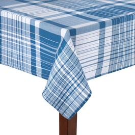 Farm Blue Plaid Cotton Tablecloth