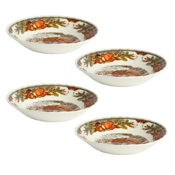 Bountiful Harvest Turkey Cereal Bowls, Set of 4