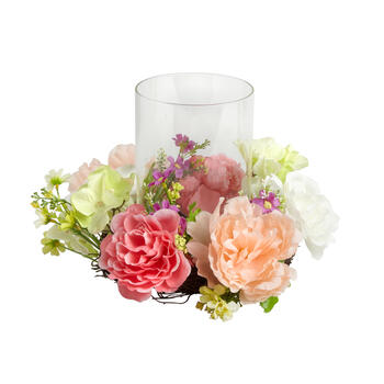 Pink Blossoms Candle Holder Centerpiece view 1