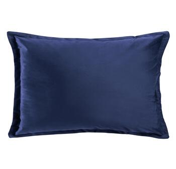 Solid Velvet Flange Oblong Throw Pillow
