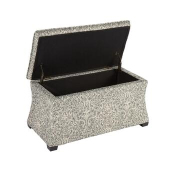 "32"" Pewter Hourglass Storage Ottoman view 2"