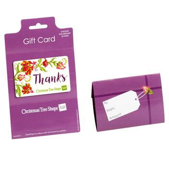 """Thanks"" Floral Gift Card - $5 - $100"