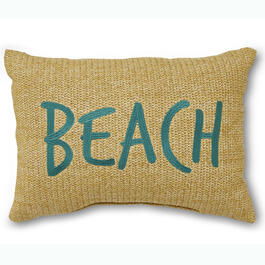 """Beach"" 13"" x 18"" Throw Pillow view 1"