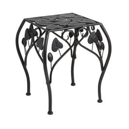 Short Leaf Scrolling Metal Square Plant Stand view 1