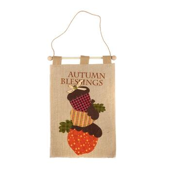 "17"" ""Autumn Blessings"" Acorn Burlap Banner"