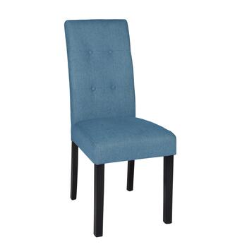 Velvet-Style Tufted Parsons Chair view 2