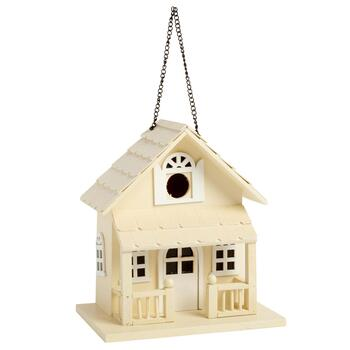 Natural Wood Cottage-Style Birdhouse
