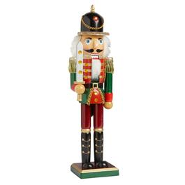 "15"" Red/Green Nutcracker Soldier with Jeweled Sword"