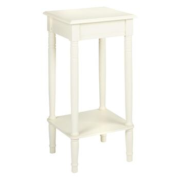 Cream Finish Square Accent Table